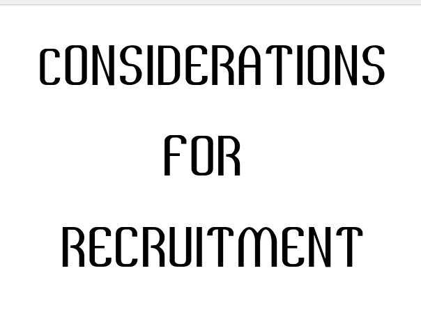 Photo of Considerations for recruitment [Factors to consider before hiring new employees]
