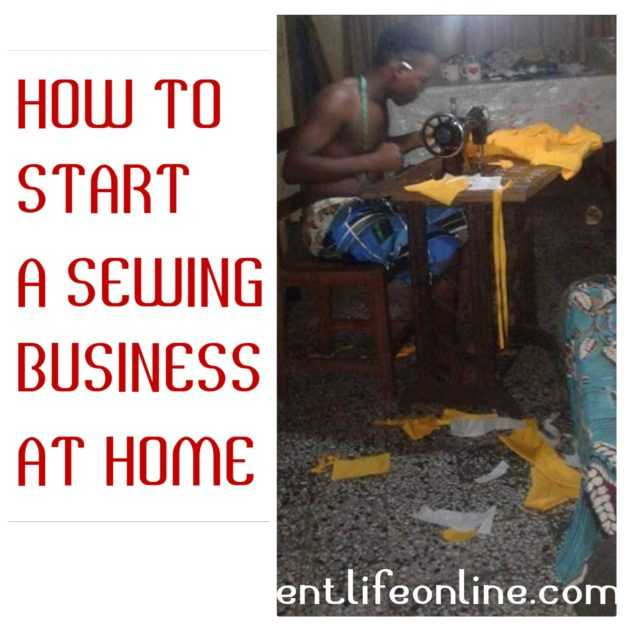 start a sewing business at home