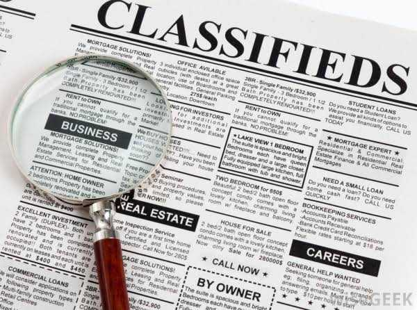 Classified advertising