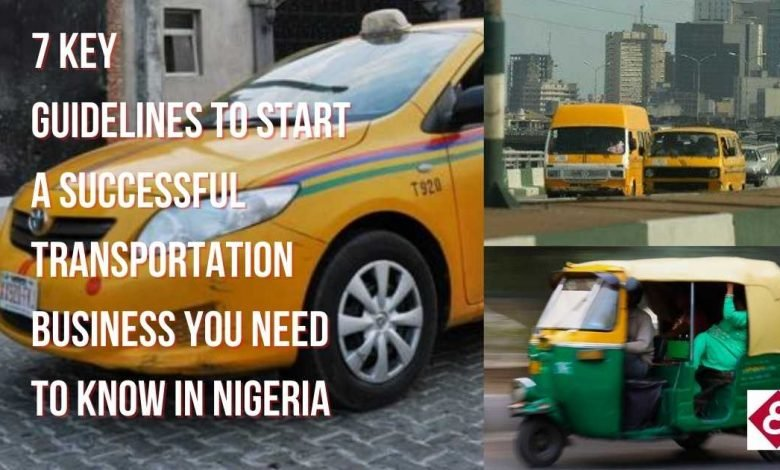 how to start a transportation business in Nigeria